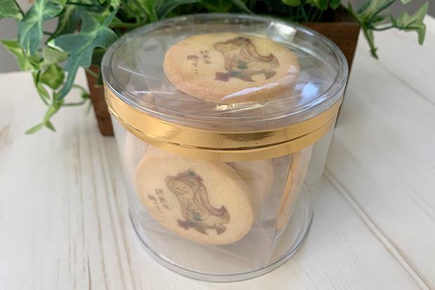 アマビエクッキー丸型5cm 10枚入り透明ケース